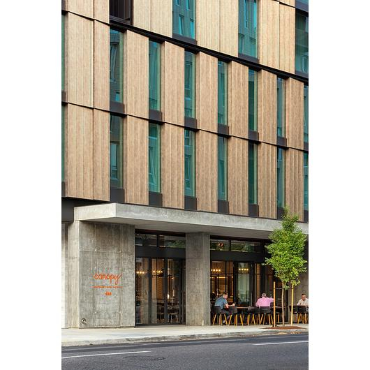 Metal Cladding – Deco Bronze in Canopy Hotel