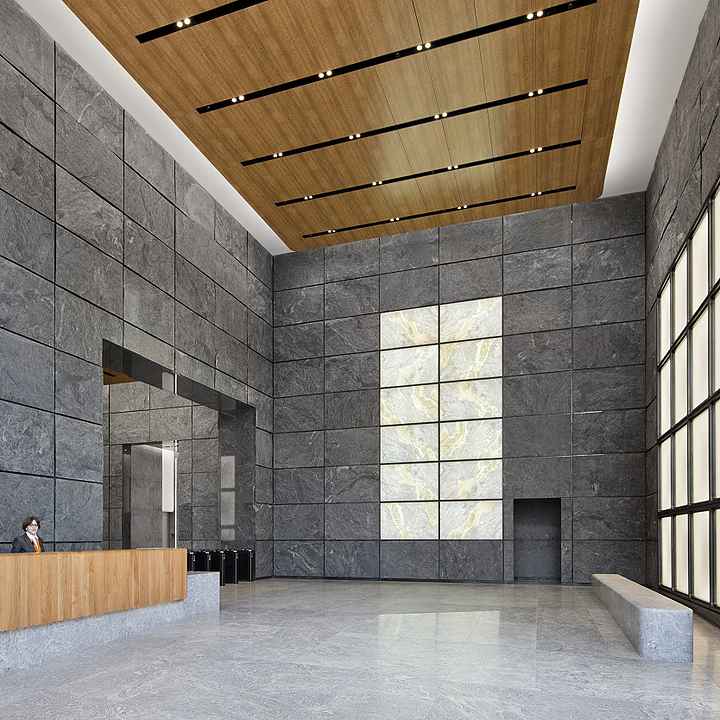 Ceiling Systems – Hudson Walnut in Hudson Yards
