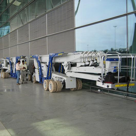 Falcon Spider Lift in Bangalore International Airport / Falcon Lifts