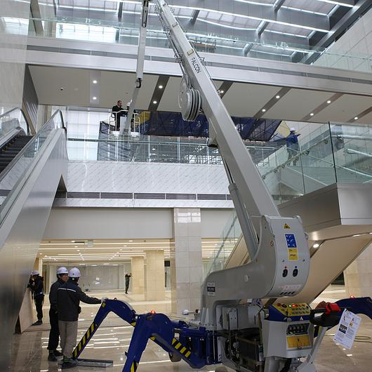 Falcon Spider Lift in Samsung Headquarters