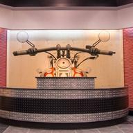 Wall Tiles in Harley-Davidson Showroom