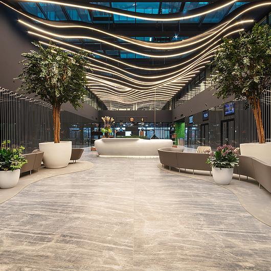 Coverlam Medusa in Hillside Office Building / Grespania