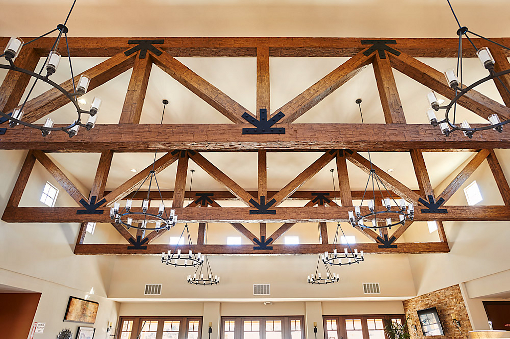 Image of: Faux Wood Truss Systems From Decorative Ceiling Tiles