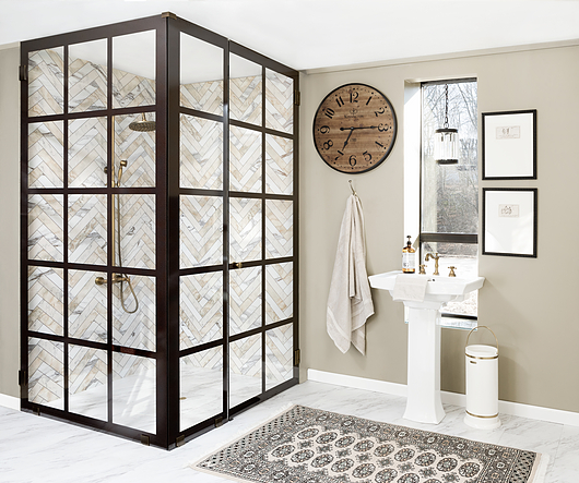 The grid shower | Printed by: HMI Cardinal
