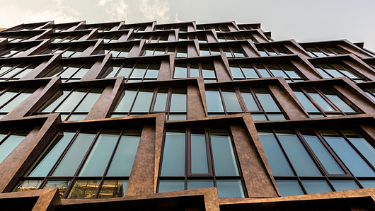 Deco Bronze Metal Cladding - 108 Chambers from Pure + FreeForm