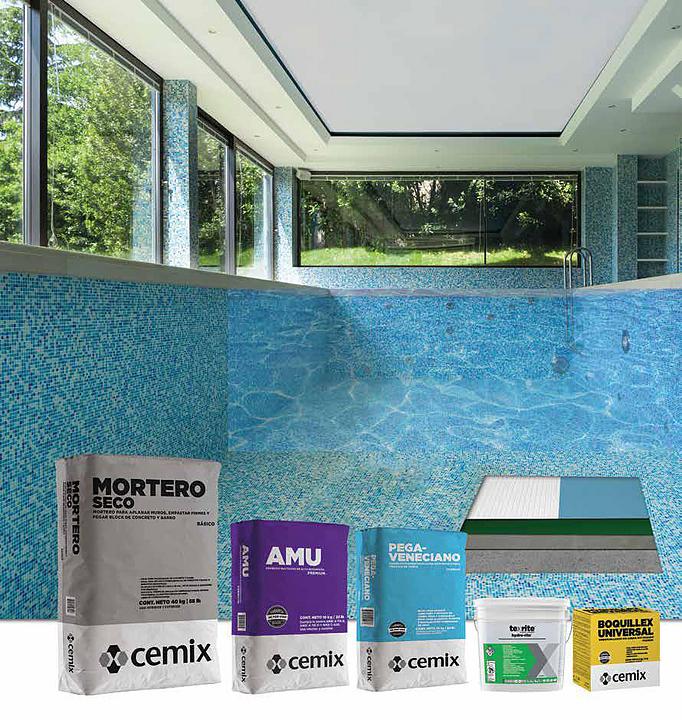 Cómo instalar mosaico en albercas (piscinas) y fuentes