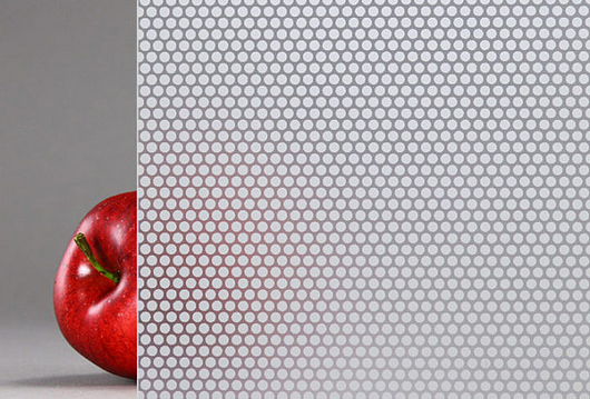 Lumi Frit™ | Surface 1 Frit Rainscreen Glass, Small Dot + Etch