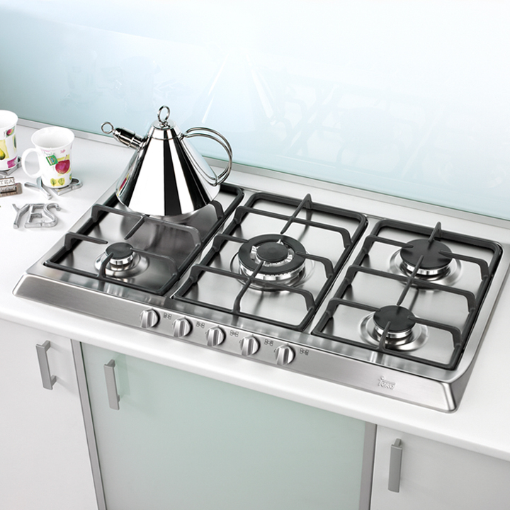 Cocinas encimeras a gas de teka for Cocina de gas profesional