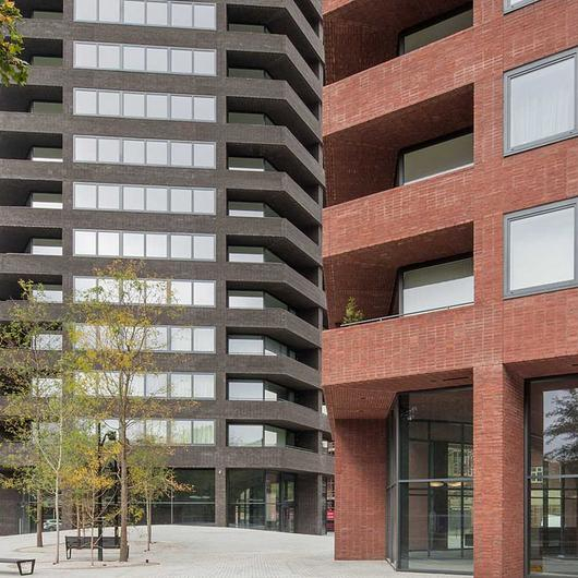 Facing Bricks in Hoxton Press Towers / Vande Moortel