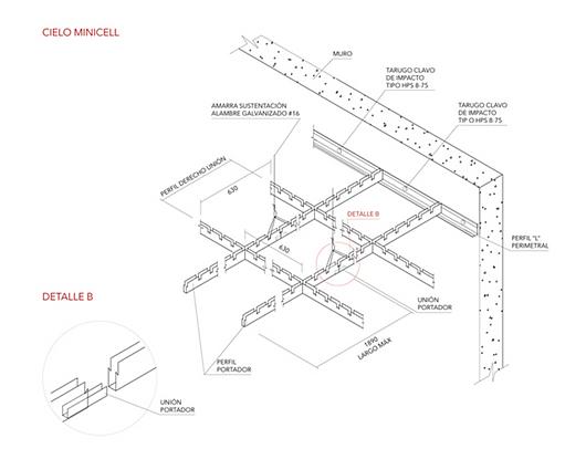 Detalhe | Forros Metálicos - Minicell | Hunter Douglas Brasil