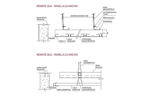 Detalhe | Forros Metálicos - 84R | Hunter Douglas Brasil