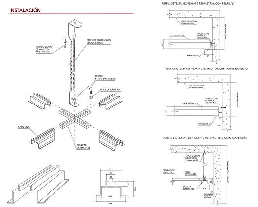 Detalhe | Forros Metálicos - Sistema 125 | Hunter Douglas Brasil