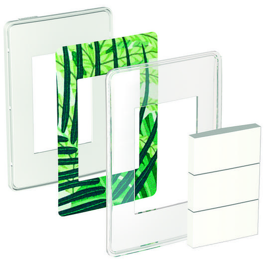 Placa transparente 4x2 3P para interruptores e tomadas -  Orion You