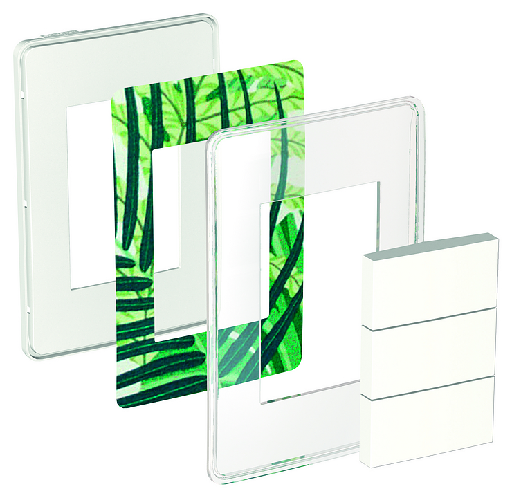 Placa transparente 4x2 3P para interruptores e tomadas -  Orion You