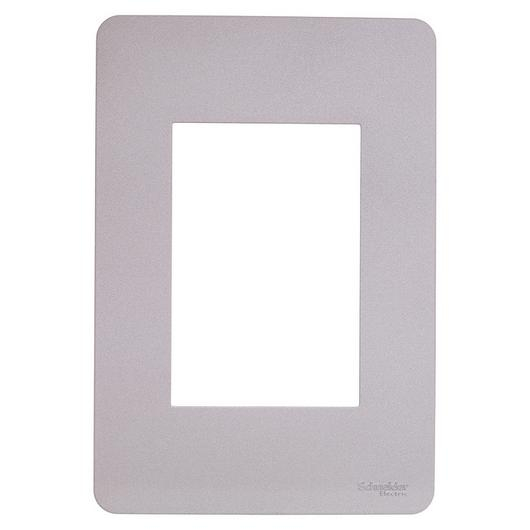 Placa 4x2 3P/ALU para interruptores e tomadas - Essence Axis Grey / Schneider Electric