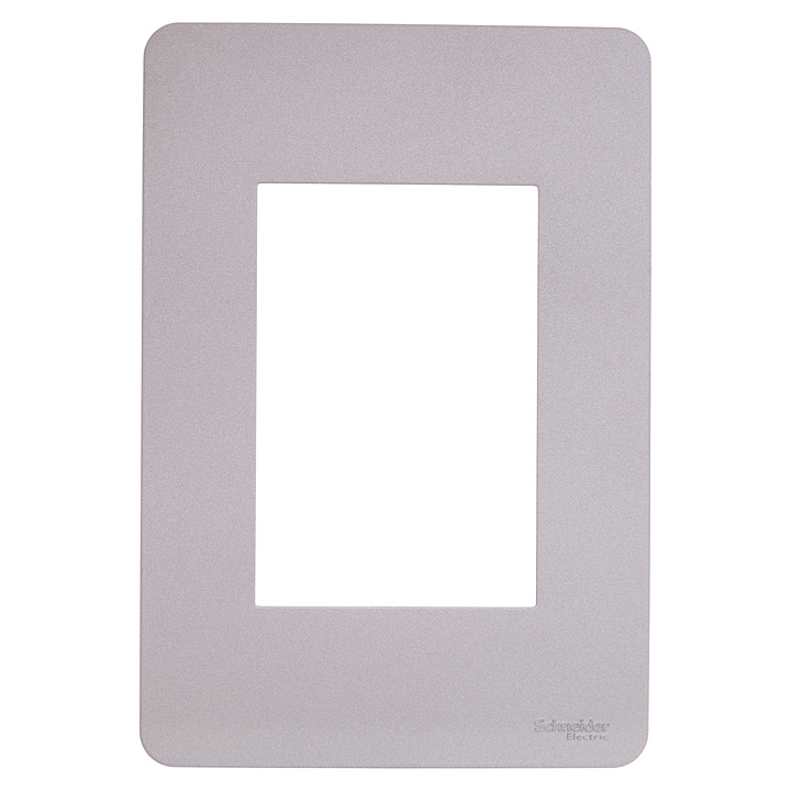 Placa 4x2 3P/ALU para interruptores e tomadas - Essence Axis Grey