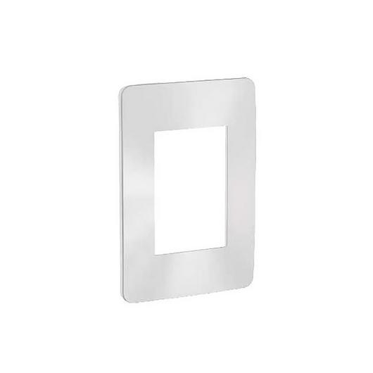 Placa 4x2 3P/ALU para interruptores e tomadas - Chrome Satin