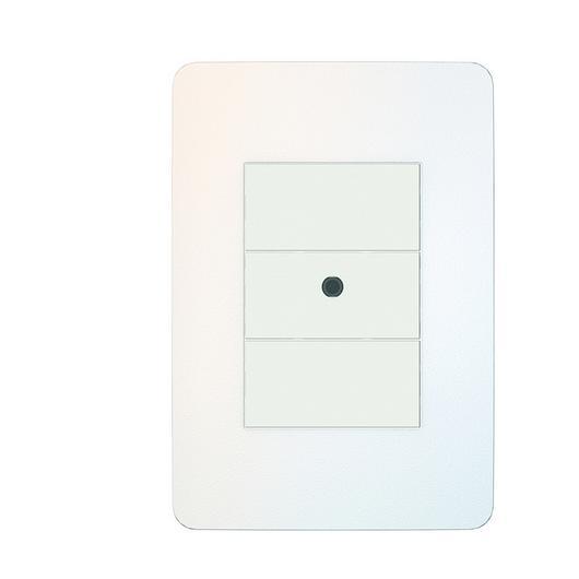 Placa 4x2 3P/ALU para interruptores e tomadas - Chrome Soft / Schneider Electric