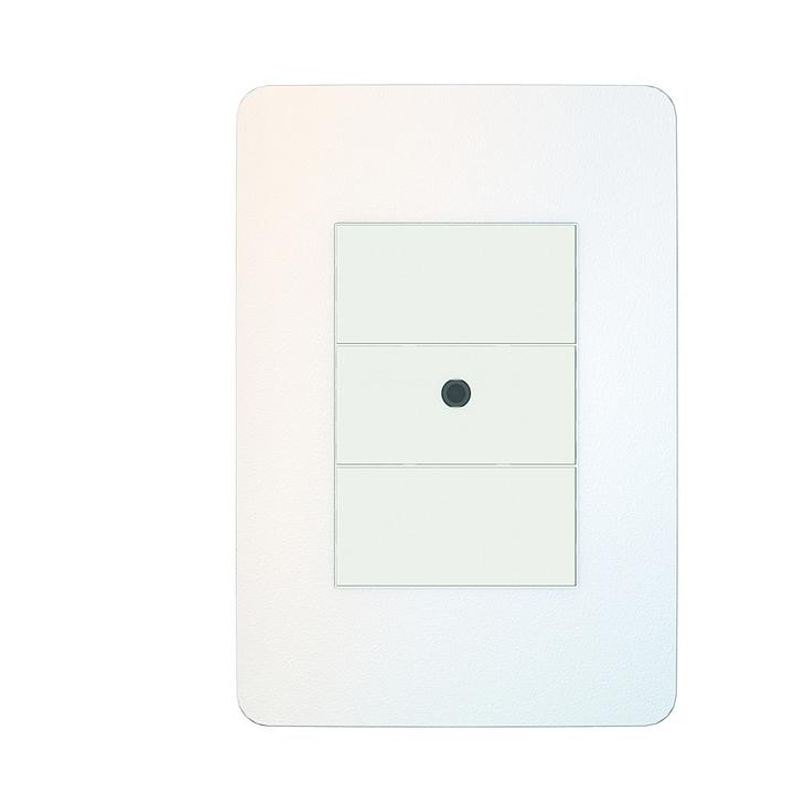 Placa 4x2 3P/ALU para interruptores e tomadas - Chrome Soft
