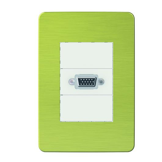 Placa 4x2 3P/ALU para interruptores e tomadas - Aurora Gold / Schneider Electric