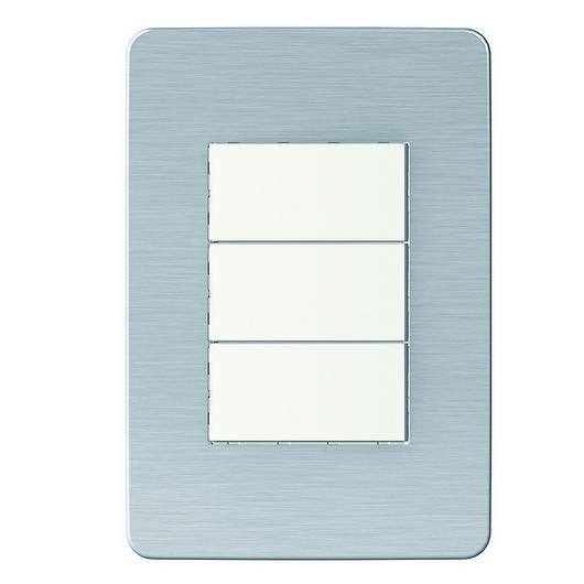 Placa 4x2 3P/ALU para interruptores e tomadas - Cosmic Grey / Schneider Electric