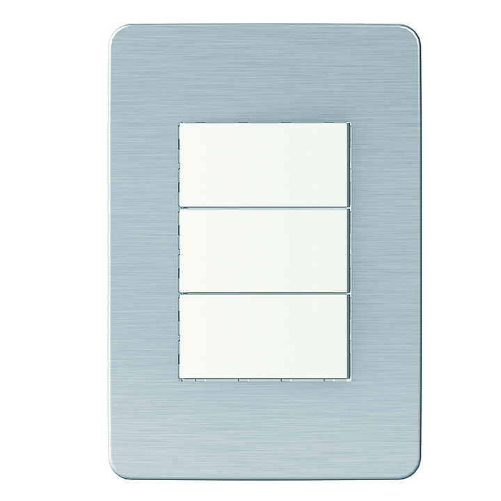 Placa 4x2 3P/ALU para interruptores e tomadas - Cosmic Grey