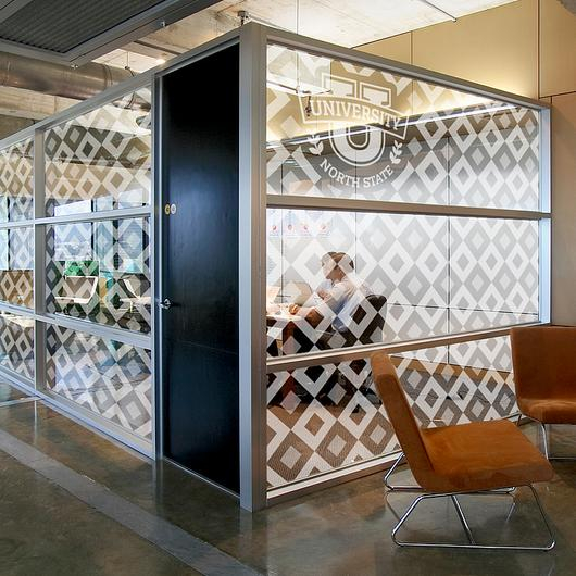 Clear Wall Panels with Custom Graphic - Fusion