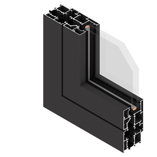 Perfil de aluminio para puertas y ventanas 300 P 60 - Línea Eternity