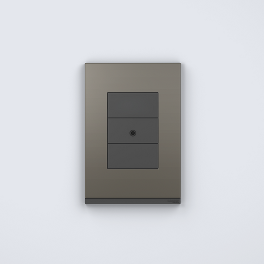 Placa 4x2 3P/ALU para interruptores e tomadas - Orion Class/Grey Fenix / Schneider Electric