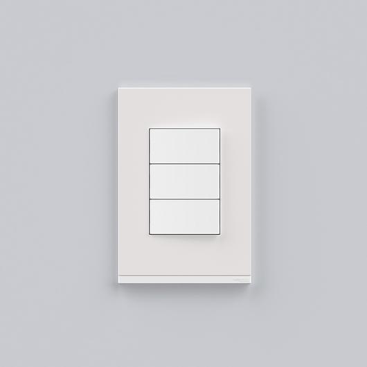 Placa 4x2 3P/ALU para interruptores e tomadas - White Fenix / Schneider Electric