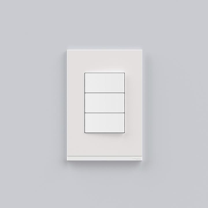 Placa 4x2 3P/ALU para interruptores e tomadas - White Fenix