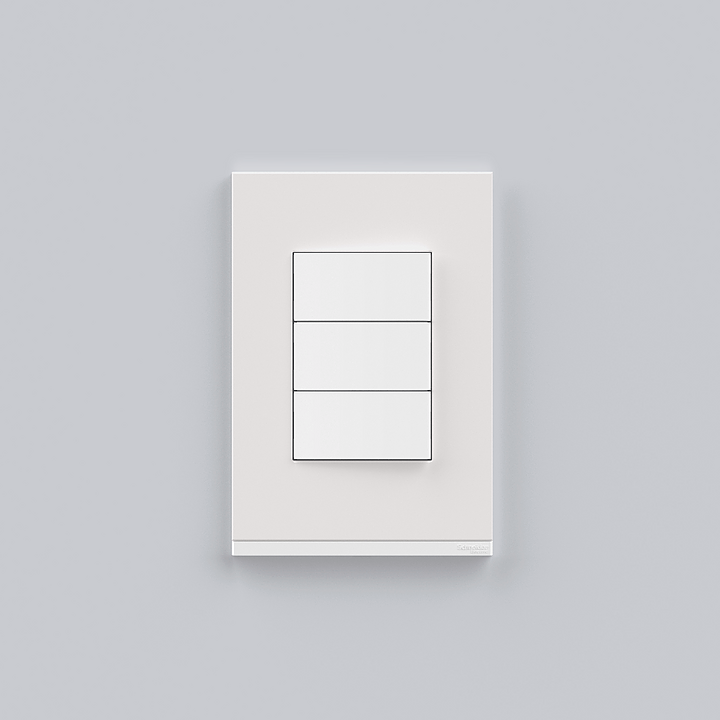 Placa 4x2 3P/ALU para interruptores e tomadas - Orion Class Branco/White Fenix