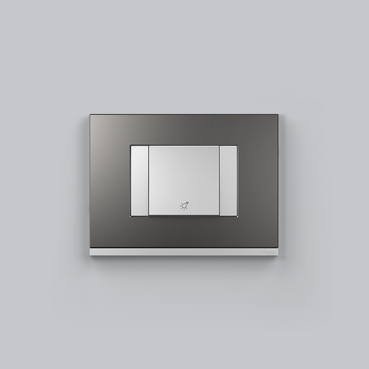 Placa 4x2 3P/ALU para interruptores e tomadas - Grey Metallic
