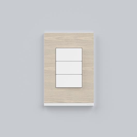 Placa 4x2 3P/ALU para interruptores e tomadas - Nordic Wood / Schneider Electric