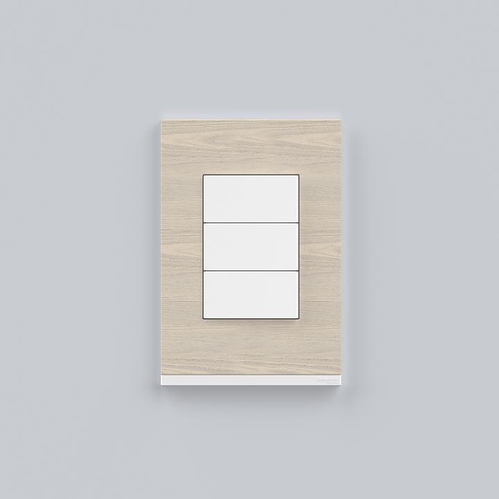 Placa 4x2 3P/ALU para interruptores e tomadas - Nordic Wood