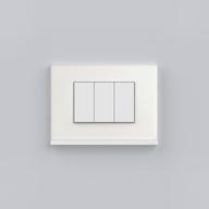 Placa 4x2 3P/ALU para interruptores e tomadas - White Glass