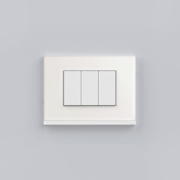 Placa 4x2 3P/ALU para interruptores e tomadas - Orion Class Branco/Glass White