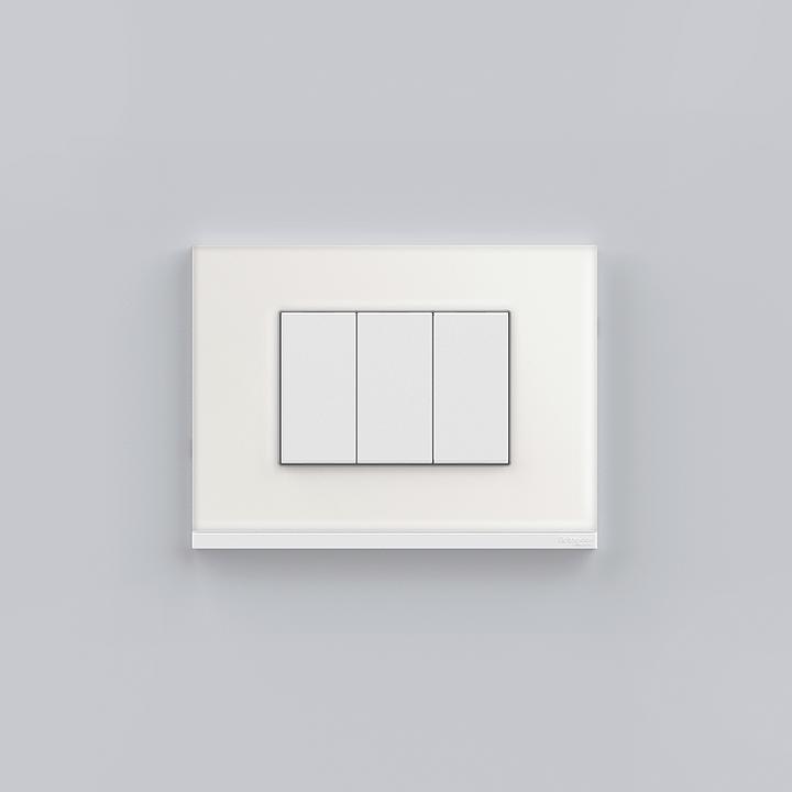 Placa 4x2 3P/ALU para interruptores e tomadas - Orion Class Branco/Glass White