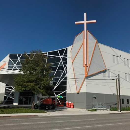 Metal Panels in Houston Baptist Church