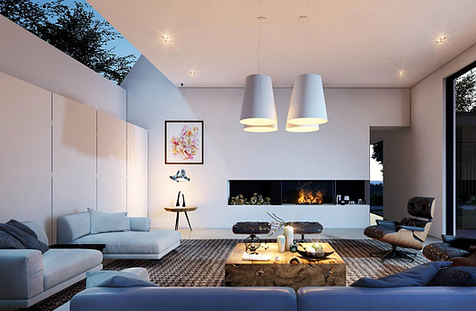 Living room interior rendered in Lumion 9 by Gui Felix