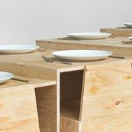 Mobiliario de Melamina desarrollado por Lanza Atelier en Vértice