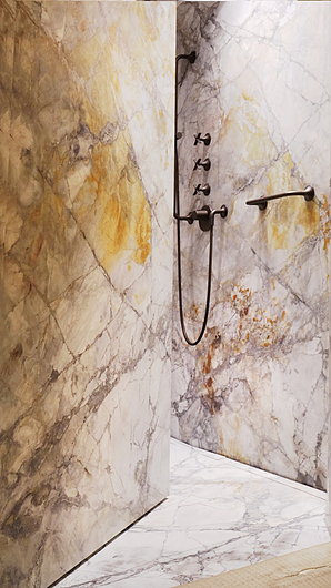 Marble Bathroom Door with FritsJurgens Hinges