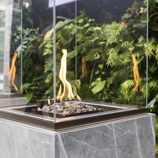 Fireplaces with Neolith® - neocube-o® / Neolith