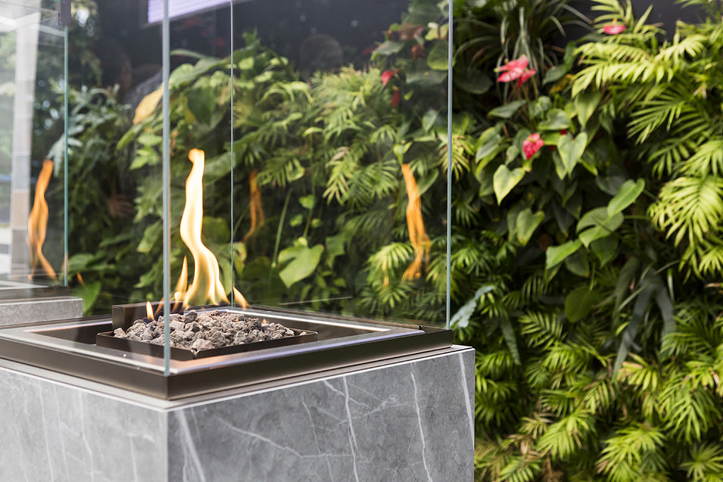 Fireplaces with Neolith® - neocube-o®