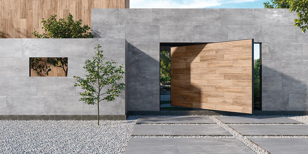 Porcelánico estilo cemento - Colección Bau Ziment