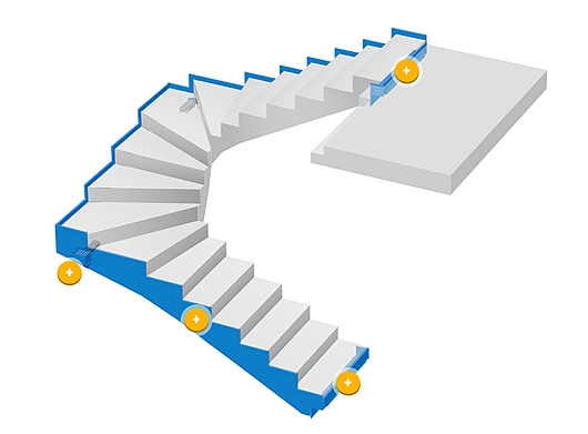 Staircase system Tronsole® 2