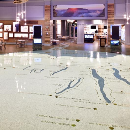 Terrazzo in Finger Lakes Welcome Center