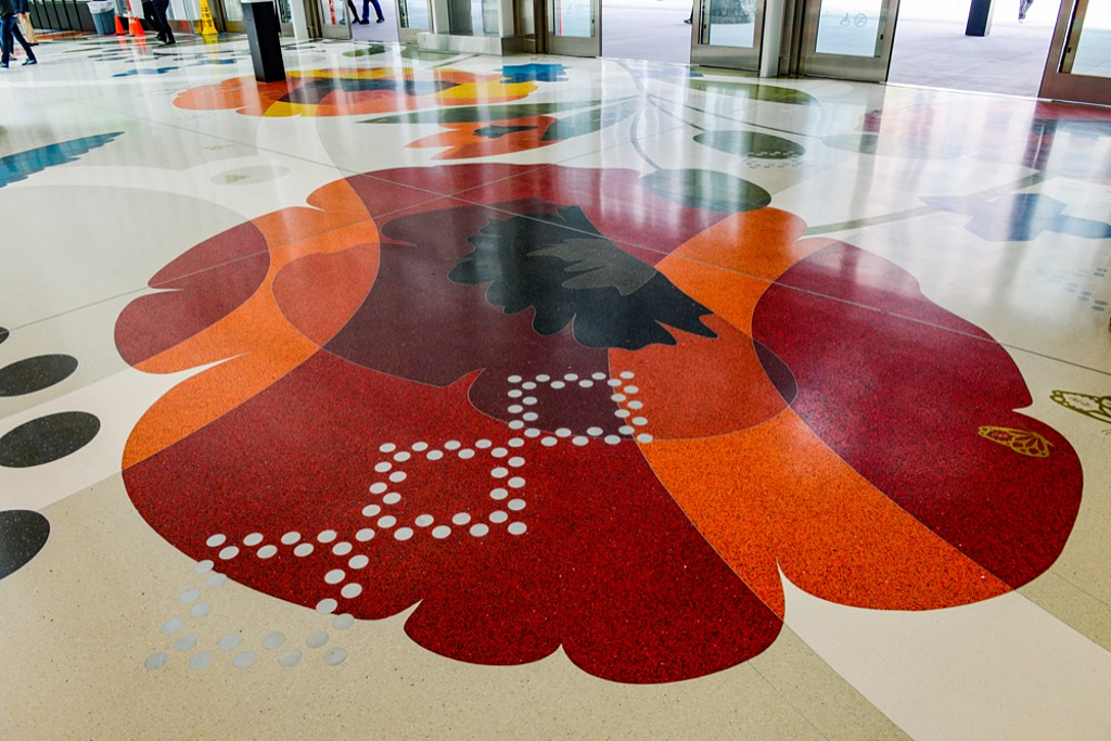 Terrazzo In Salesforce Transit Center From Terrazzo Marble
