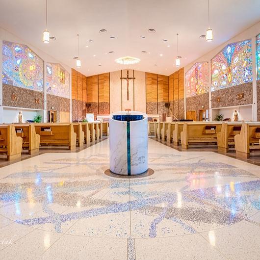 Terrazzo in St. Ambrose Church / Terrazzo & Marble