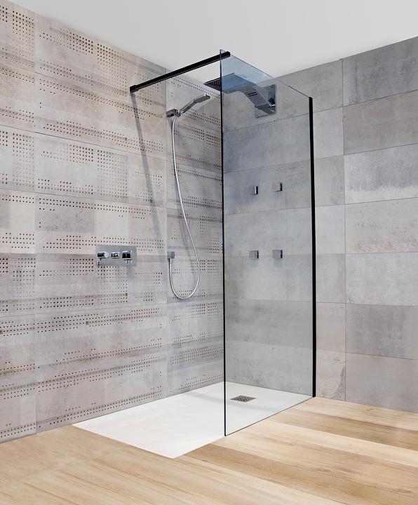 Mampara Kristall Black para plato de ducha y bañera / Wasser